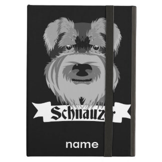 Cute Cartoon Style Schnauzer Cover For iPad Air
