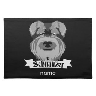 Cute Cartoon Style Schnauzer Placemat