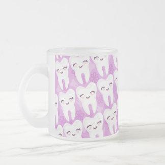 Cute Cartoon Teeth Pattern - Purple Mug