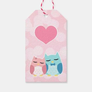 cute cartoon vector owl couple