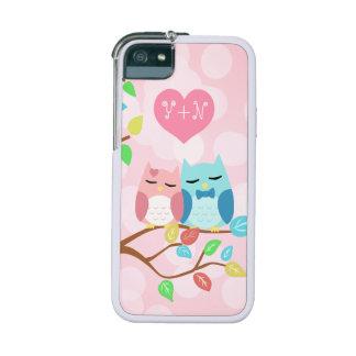 cute cartoon vector owl couple iPhone 5/5S case