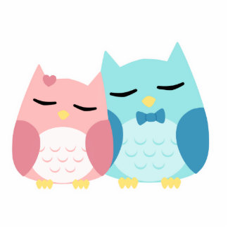 cute cartoon vector owl couple photo cut outs