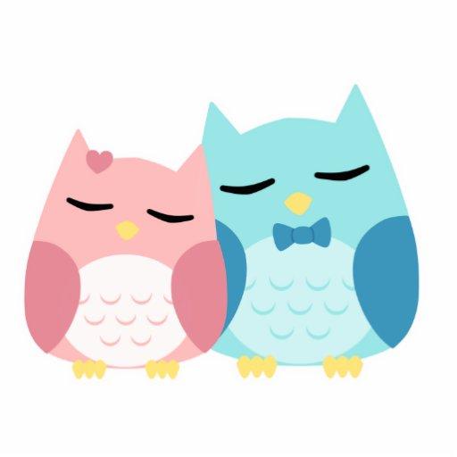 cute cartoon vector owl couple photo cut outs