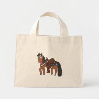 Cute Cartoon Western Horse Mini Tote Bag