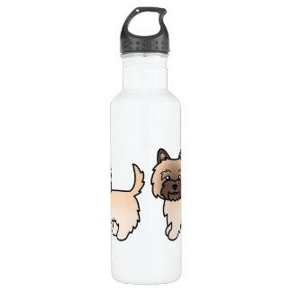 Cute Cartoon Wheaten Cairn Terrier 710 Ml Water Bottle