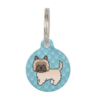 Cute Cartoon Wheaten Cairn Terrier Pet Name Tag