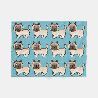 Cute Cartoon Wheaten Cairn Terrier Fleece Blanket