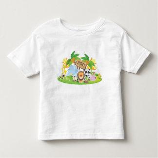 Cute Cartoon Zoo Animals T-shirts