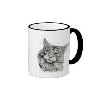 Cute Cat Art Ringer Mug