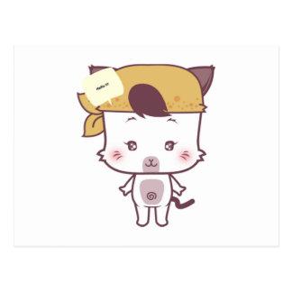 Cute cat cartoon version 1 post cards