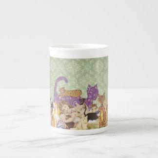 Cute Cat Collage 3 Bone China Mug