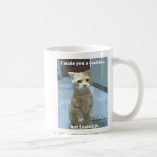 cute-cat-cookie basic white mug