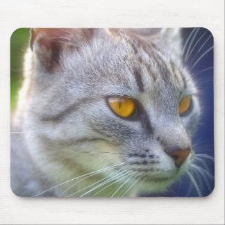 cute cat face 4 mouse pad