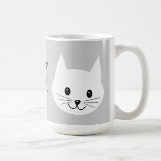 Cute Cat Face. Basic White Mug