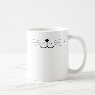 Cute Cat Face Basic White Mug