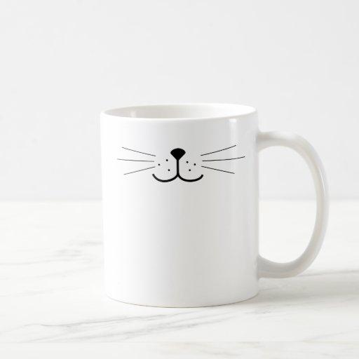 Cute Cat Face Coffee Mugs