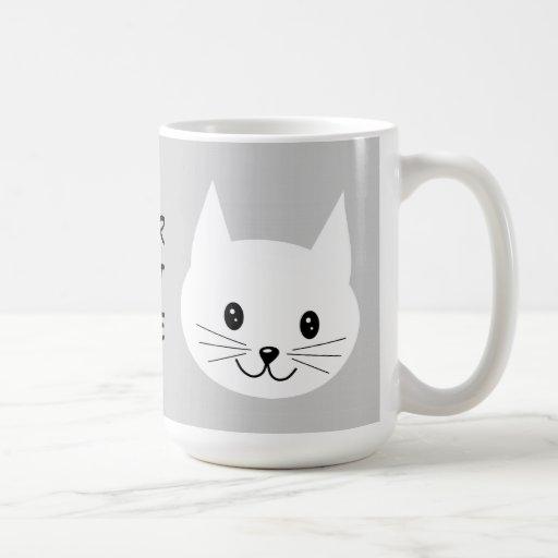 Cute Cat Face. Coffee Mugs