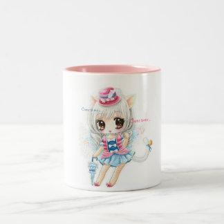 Cute cat girl - mug