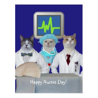 Cute Cat Happy Nurses Day Postcard