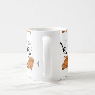 Cute cat pattern coffee mug
