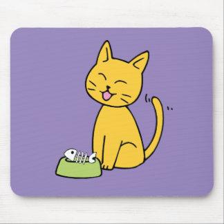 Cute Cat Purple Mousepad