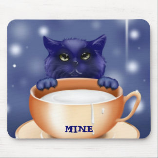 Cute Cat With Milk Mouse Mat