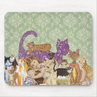 Cute Cats Collage 3 mousepad