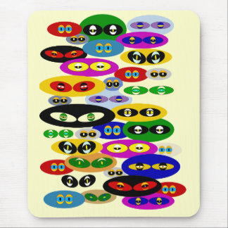 Cute Cats Eyes For Cat Lovers Mouse Mat Mousepads