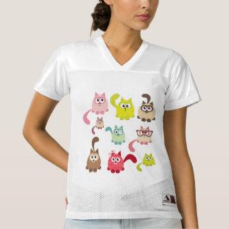 Cute cats,kid pattern,colorful,happy,fun,girly,tre women's football jersey