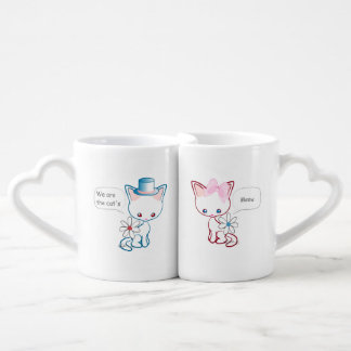 Cute Cats Meow Husband and Wife Couple Mugs