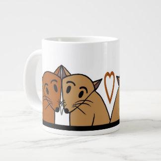 Cute cats mug 20 oz large ceramic coffee mug