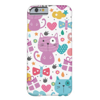 Cute Cats Pattern Barely There iPhone 6 Case