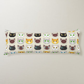Cute Cats Pattern Body Cushion
