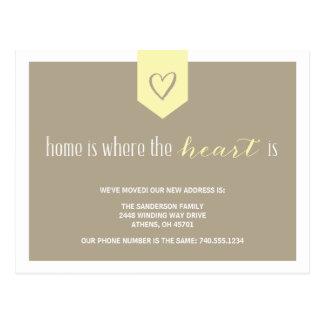 Cute Change of Address Announcement Postcard