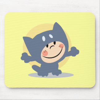 Cute Child Dressed In Cat Suit Mouse Pad