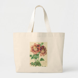 Cute Children Red Carnation Large Tote Bag