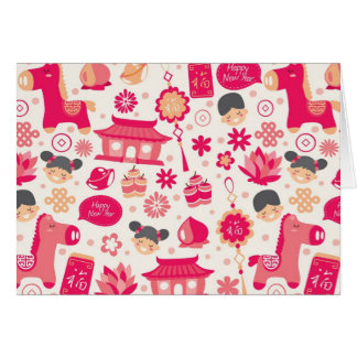 Cute Chinese New Year Greeting Card