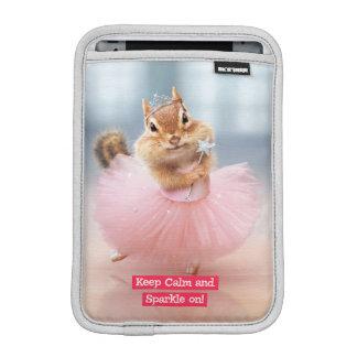 Cute Chipmunk Ballerina in tutu at Dance Studio iPad Mini Sleeve