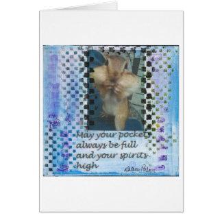 Cute Chipmunk Inspirational Note Card