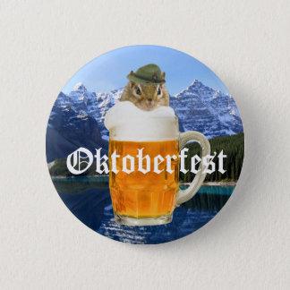 Cute Chipmunk Oktoberfest Mountains 6 Cm Round Badge