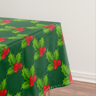 Cute Christmas Berries Tablecloth