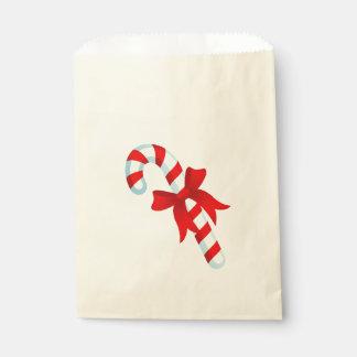 Cute Christmas Candy Cane Favor Bag Favour Bags