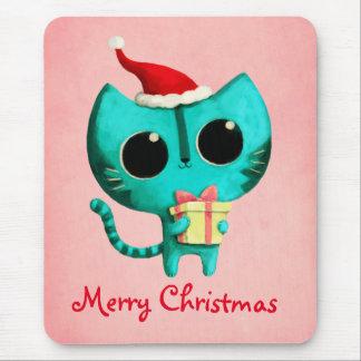 Cute Christmas Cat Mousepads