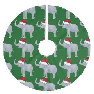 Cute Christmas Elephant Brushed Polyester Tree Skirt