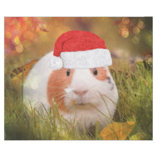 cute christmas guinea pig wrapping paper