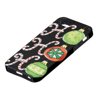 Cute Christmas Ho Ho Ho, Candy Canes Ornaments iPhone 5 Cases