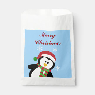 Cute Christmas Holiday Penquin Favor Bags Favour Bags