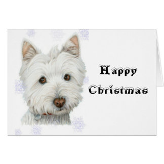 Cute Christmas Westie Dog Gifts Greeting Card