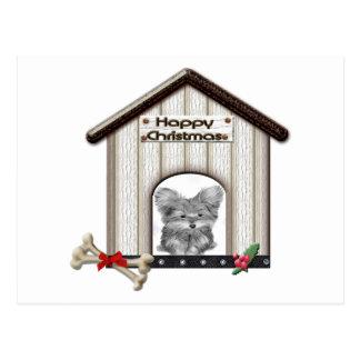 Cute Christmas Yorkie Dog Gifts Postcard