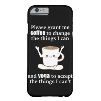 cute Coffee Cup doing Yoga Barely There iPhone 6 Case